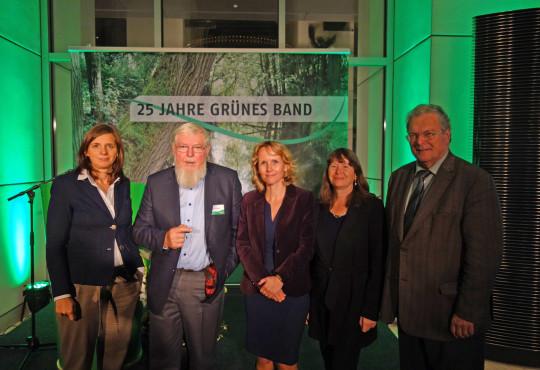 v.l. Katrin Göring-Eckardt, Prof. Michael Succow, Steffi Lemke, Ulrike Höfken, Prof. Hubert Weiger