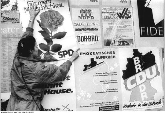 Dresden, Volkskammerwahl, Wahlplakate